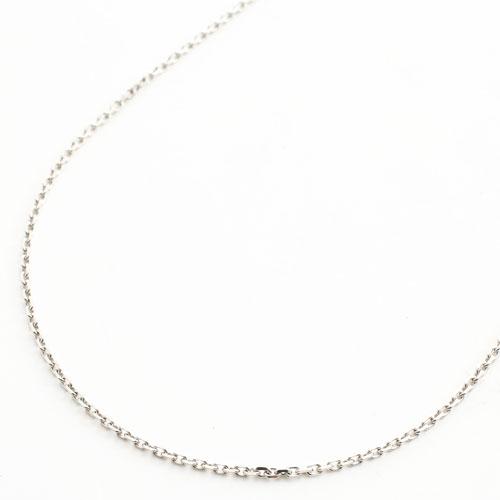 プラチナ850 フリーサイズ チェーン ネックレス 2面カットアズキ 50cm 4.1g 2029-NP13