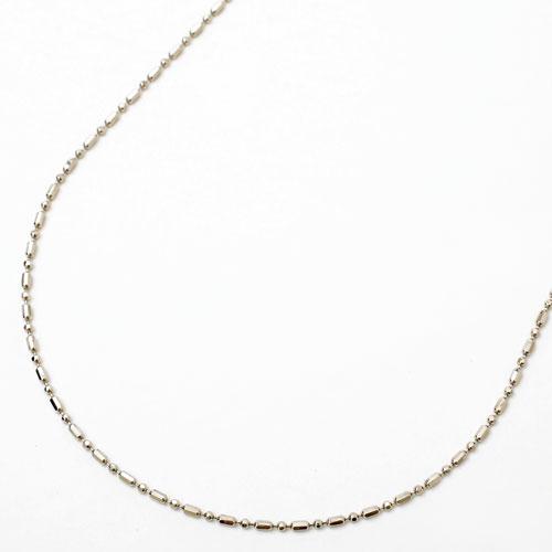 プラチナ850 pt850 ネックレス フリーサイズチェーン 8面カットS&L 50cm 2.8g 2030-NP13