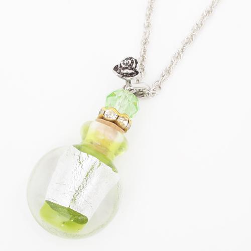 フランス製 ガラス 香水 フレグランスボトル キューティー・グリーン ペンダント 2039-PS13