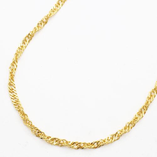 純金 24金 K24 スクリュー ネックレス 42cm 10.5g 2087-NG13