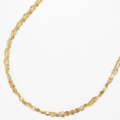 純金 24金 K24 2連 サザンクロス ネックレス 42cm 2.9g 2093-NP13