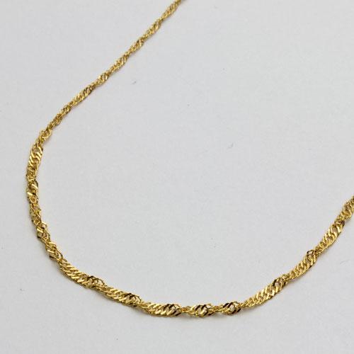 純金(K24) ネックレス スクリューチェーン 45cm グラデーション(中太) 2116-NG14