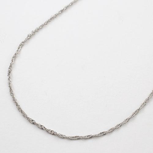 純プラチナ(純Pt/Pt999) ネックレス スクリューチェーン 45cm グラデーション(中太) 2117-NP14