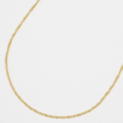純金 24金 K24 スクリュー ネックレス 42cm 1.8g 2122-NG14