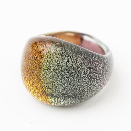 ベネチアンガラス リング 純金箔入り (レンジーノ) イタリア製 2127-PV14