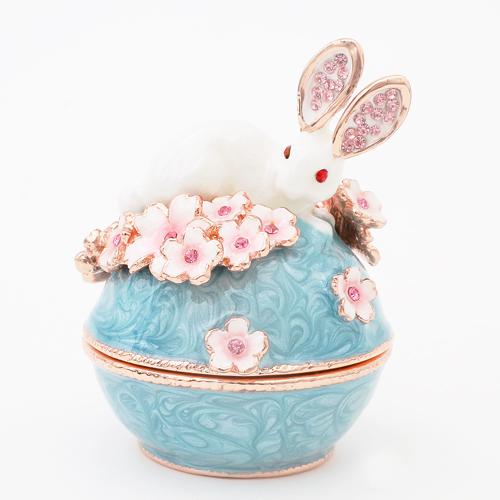 ミニジュエリーケース 宝石箱 うさぎと桜 小物入れ 2133-JC14