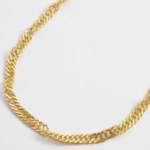 純金 ネックレス スクリュー チェーン 60cm 24.2g K24 刻印 2138-NG14