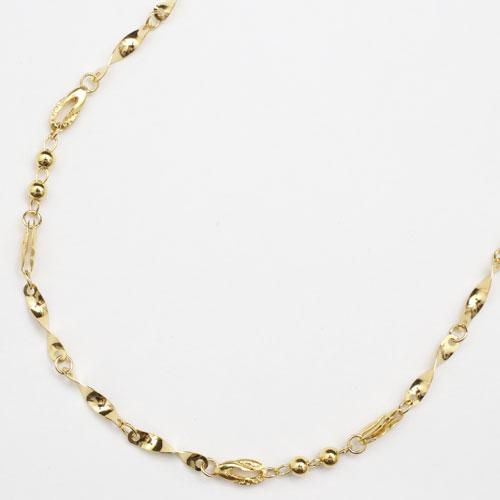 純金 24金 K24 ひねり&ボール ネックレス 45cm 4g 2145-NG14