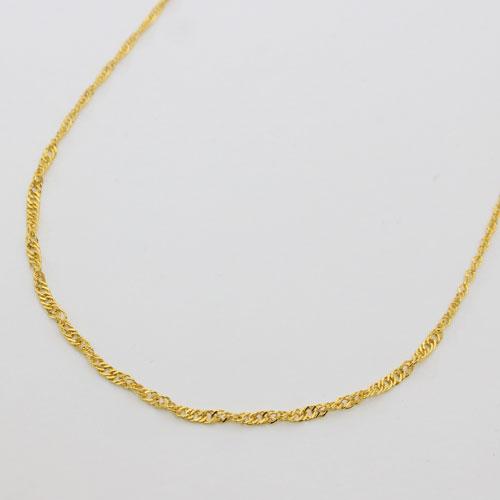 純金(K24) ネックレス スクリューチェーン 50cm グラデーション(中太) 2149-NG14