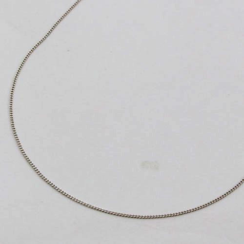 10金 ホワイトゴールド ネックレス キヘイ チェーン 10WG 40cm 0.6g 2160-NG14