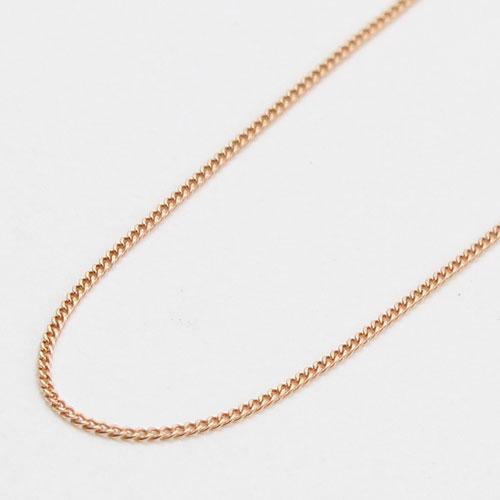 10金 ピンクゴールド ネックレス キヘイ グルメッタチェーン 40cm 2161-NG14