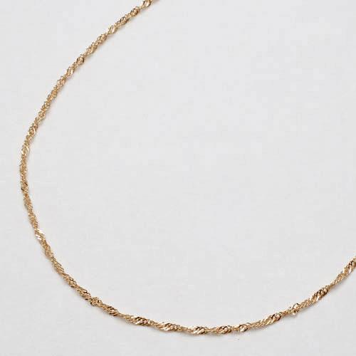 18金 イエローゴールド ブレスレット スクリュー チェーン 18cm 2164-BG14
