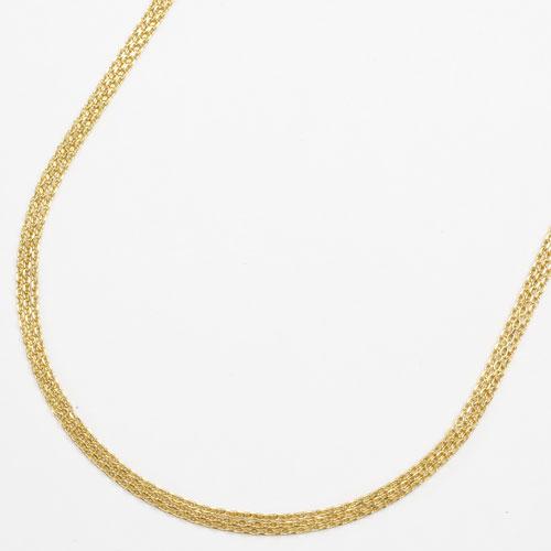 純金 24金 K24 3連 カットアズキ ネックレス 45cm 5.4g 2165-NG14