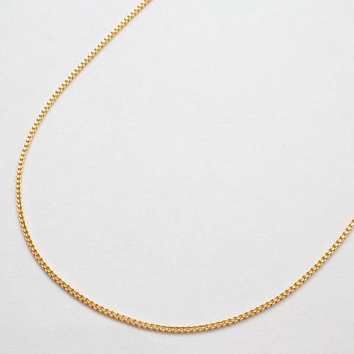 純金 ネックレス ベネチアンチェーン スライド アジャスター 50cm 2169-NG14
