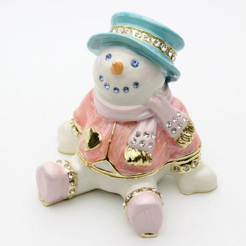 ジュエリーケース スノーマン 宝石箱 クリスマス ジュエリーケース  2183-JC14