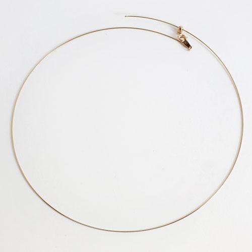 18金製 チタン入り 形状記憶 オメガネックレス スライドスルー 2216-NG14