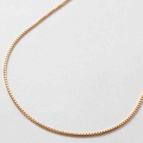 18金 イエローゴールド ネックレス ベネチアンチェーン スライド 50cm 2264-NG15