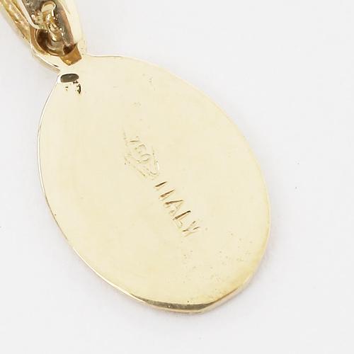 イタリア製 18金 小さなマリア様 ヴァージンペンダント(ベネチアンチェーン付)2265-NG15