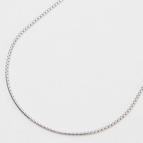 シルバー ベネチアン チェーン ネックレス 50cm イタリア製 2309-NS15