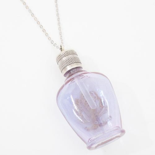 フランス製 ガラス 香水 フレグランスボトル インペリアル・パープル ペンダント 2338-PS15