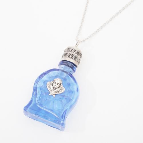 フランス製 ガラス 香水 フレグランスボトル ベイビー・ブルー ペンダント 2339-PS15
