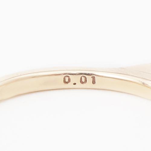 日本製 10金 ピンキー リング キャット ダイヤモンド ルビー 天然石 2347-RG15