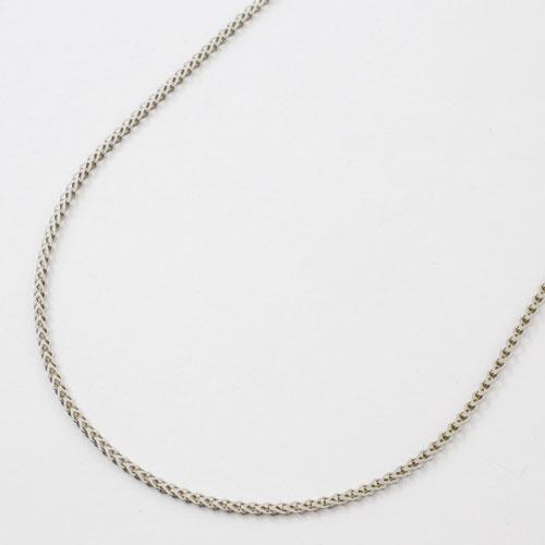 純プラチナ ネックレス ミニハート Pt999 刻印 45cm 3.7g スライド式 2363-NP15
