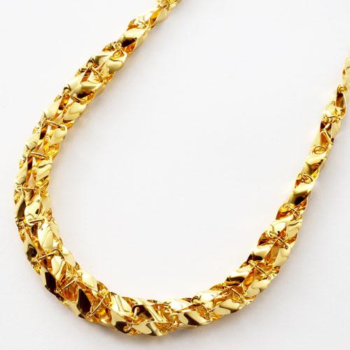 純金 K24 24金 ウィンザー グラデーション ネックレス 45cm 14.5g 2417-NG15