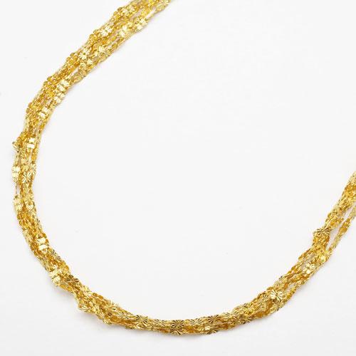 純金 24金 K24  ドリームバタフライ ネックレス 5連 45cm 8.3g 2441-NG16