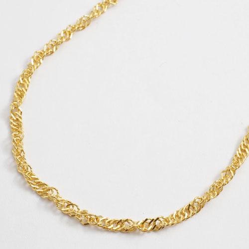 純金 ネックレス スクリュー チェーン 45cm 3.5g K24 刻印 2458-NG16
