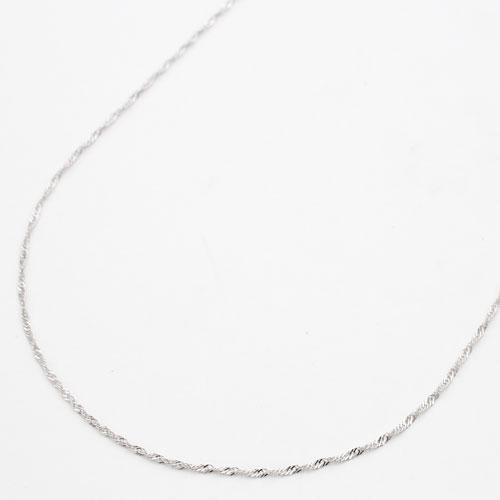 18金 ホワイトゴールド ネックレス K18 スクリュー チェーン 45cm 2464-NG16
