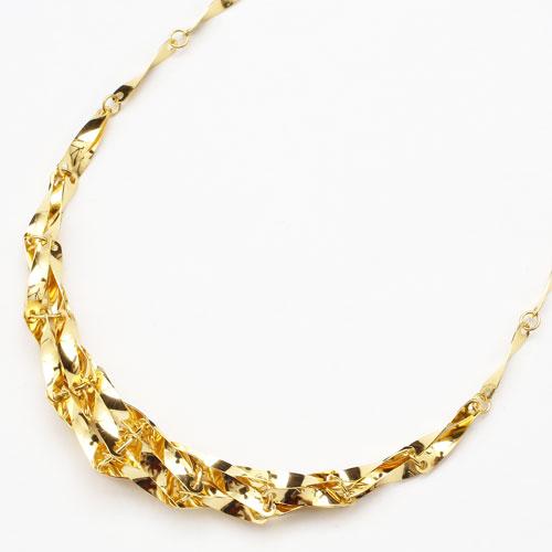純金 24金 K24  グラデーションシャイン ネックレス 42cm 5.7g 2490-NG16