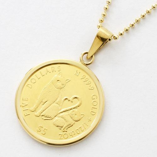 純金 ミーチョとミーチャ 1/20 コイン 金貨 ペンダント 2503-MS17