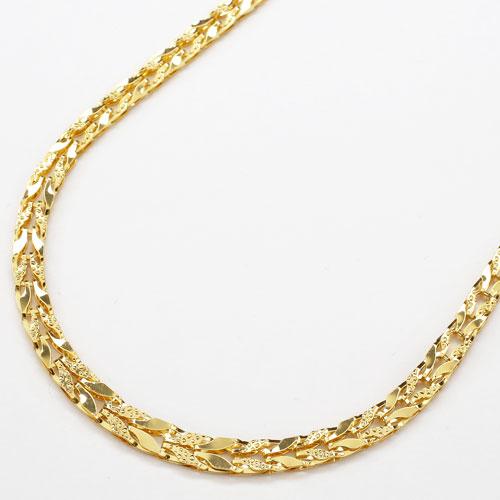 純金 24金 K24  リバーシブル チューリップ ネックレス 45cm 9g 2830-NG15