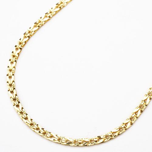 純金 24金 K24 リバーシブル チューリップ ネックレス 45cm 8.3g 2834-NG15