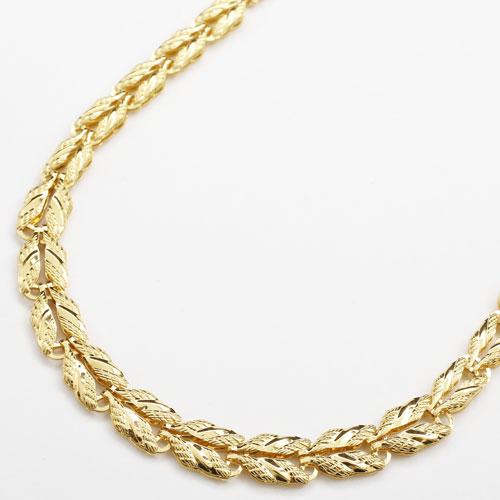純金 24金 K24 2連 リバーシブル・矢羽 ネックレス グラデーション 45cm 8.5g 2841-NG15