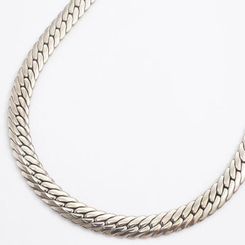 純チタン 極太6.3mm幅 ネックレス ヘリンボーンデザイン 60cm 3008-NC16