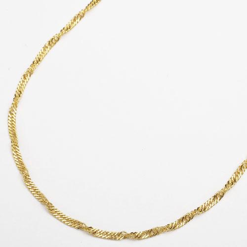 純金 24金 K24 セミロングサイズ・スクリュー ネックレス 50cm 4.7g 3020-NG16