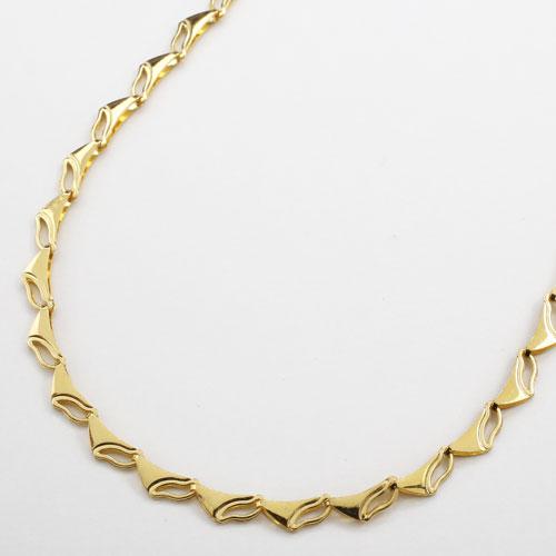 純金 24金 K24 ラギング・ウェーブ ネックレス 45cm 7.3g 3037-NG16