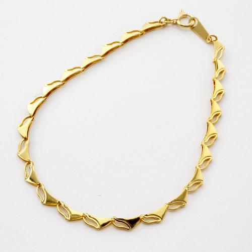 純金 ブレスレット ラギング・ウェーブ 3038-BG16