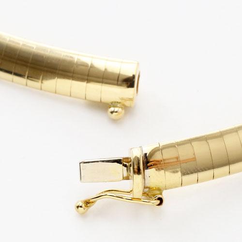イタリア製 18金 K18 ゴージャス オメガ ネックレス 40cm 34.6g 3043-NG16