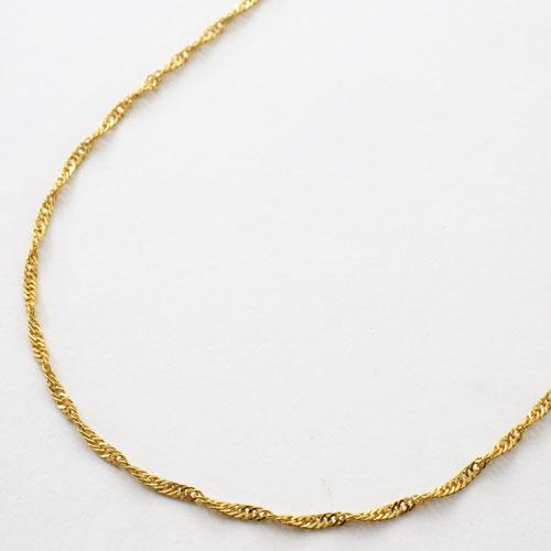 純金 ネックレス スクリュー チェーン 45cm 2.8g K24 刻印 3045-NG16