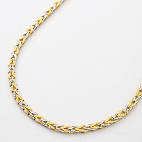 純金 純プラチナ コンビ ネックレス チューリップ ストレート リバーシブル 3064-NP17