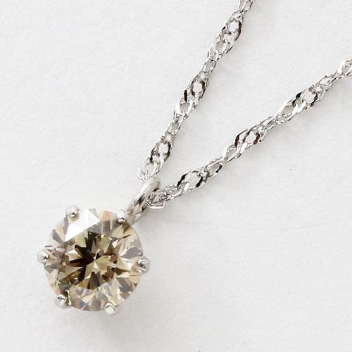 プラチナ ダイヤモンド 0.3ct ペンダント Pt850 チェーン 鑑別書付 3071-PP17