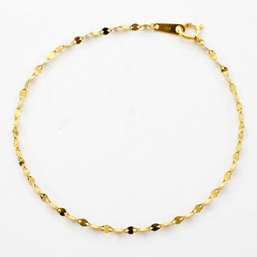 日本製 ブレスレット 純金 K24 ペダルチェーン 3083-BG17