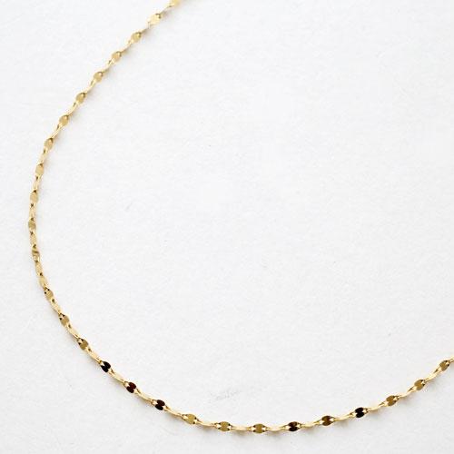 18金 K18 イエローゴールド ブレスレット ペダル チェーン 20cm 3084-BG17