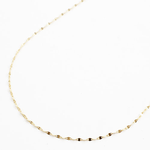 K18 18金 K18YG きらきらネックレス スライドチェーンペダル 45cm 0.8g 3089-NG17