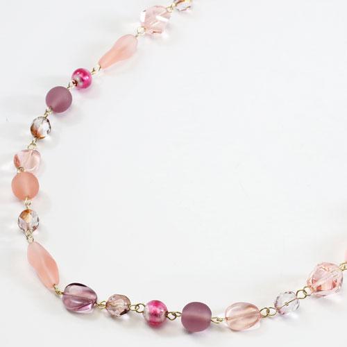 イタリア製 ベネチアングラス ピンクインピンク キアラ・デザイン 3104-IN17