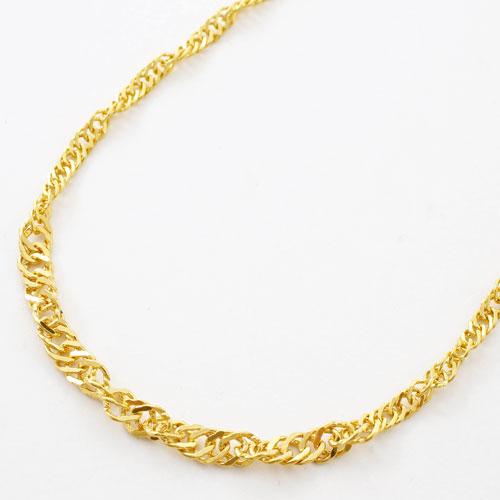 純金 ネックレス スクリュー チェーン 42cm 8.1g K24 刻印 3116-PW17