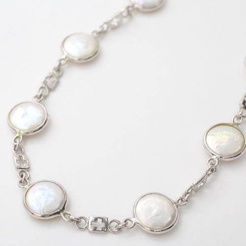 シルバー SV925 淡水真珠 淡水パール ネックレス アクセサリー 3585-FS20